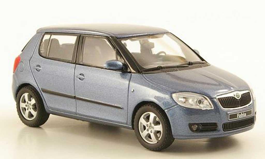 skoda fabia ii blaugrau 2006 abrex modellauto 1 43. Black Bedroom Furniture Sets. Home Design Ideas