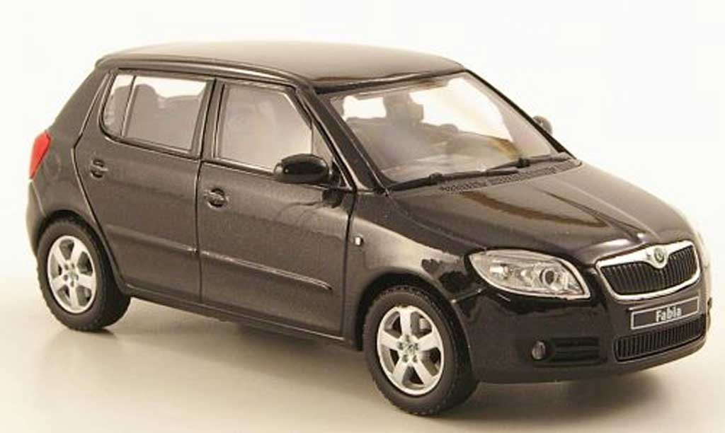 skoda fabia ii schwarz 2006 abrex modellauto 1 43 kaufen verkauf modellauto online. Black Bedroom Furniture Sets. Home Design Ideas