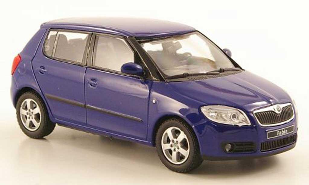 skoda fabia ii miniature bleu 2006 abrex 1 43 voiture. Black Bedroom Furniture Sets. Home Design Ideas