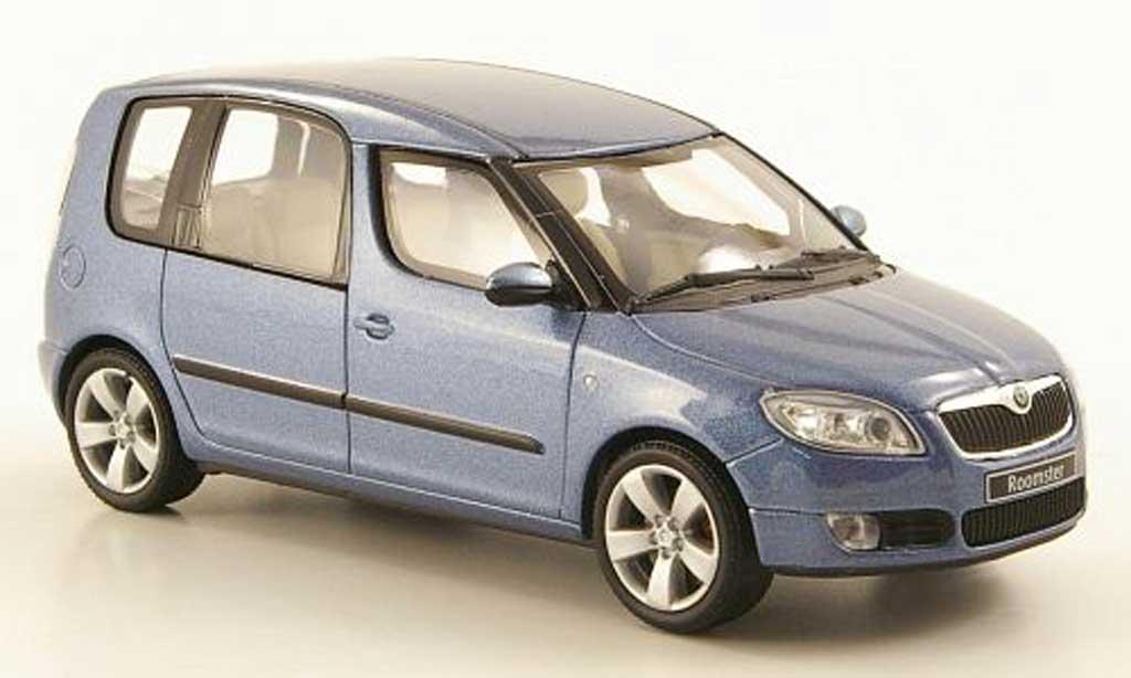 skoda roomster blaugrau 2006 abrex modellauto 1 43 kaufen verkauf modellauto online. Black Bedroom Furniture Sets. Home Design Ideas
