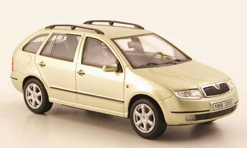 skoda fabia miniature beige abrex 1 43 voiture. Black Bedroom Furniture Sets. Home Design Ideas