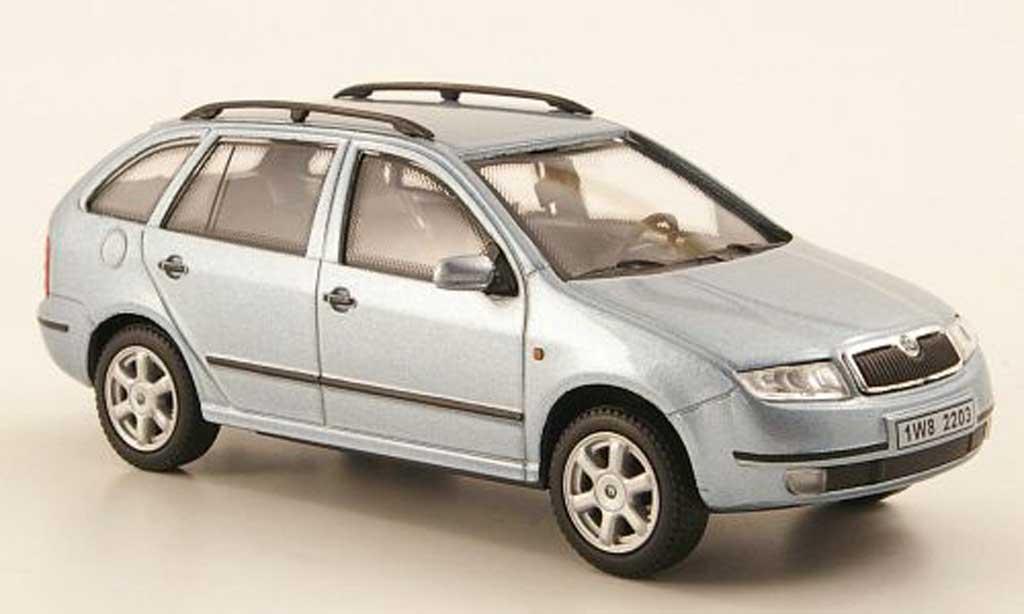 skoda fabia miniature bleu abrex 1 43 voiture. Black Bedroom Furniture Sets. Home Design Ideas