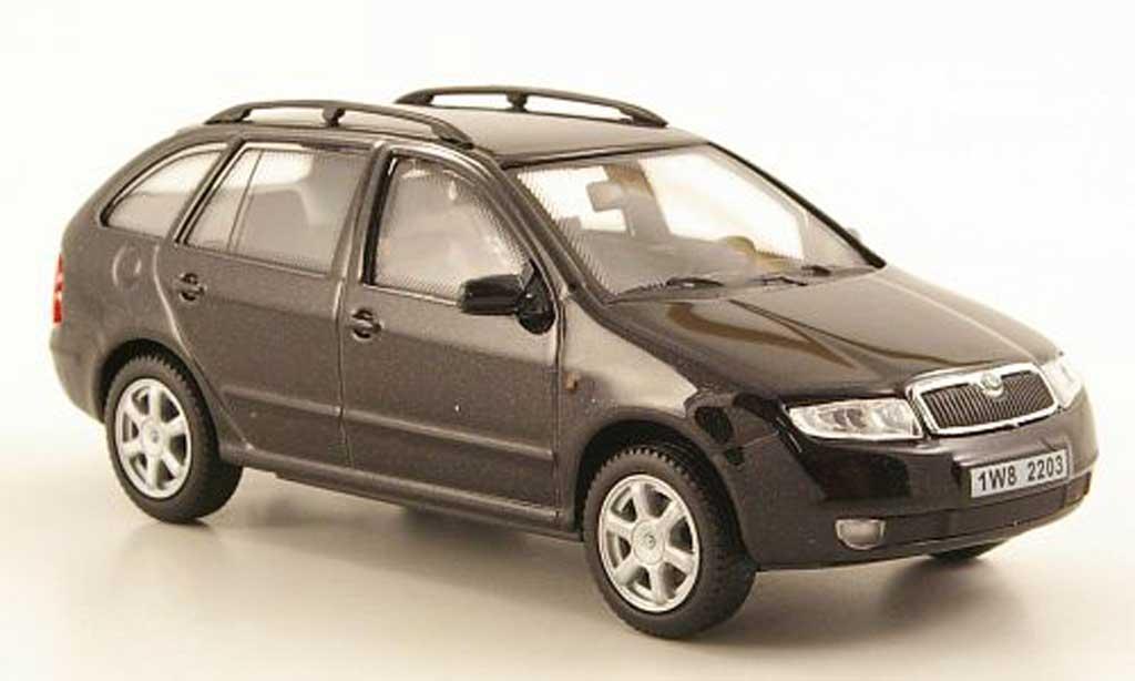 skoda fabia miniature noire abrex 1 43 voiture. Black Bedroom Furniture Sets. Home Design Ideas