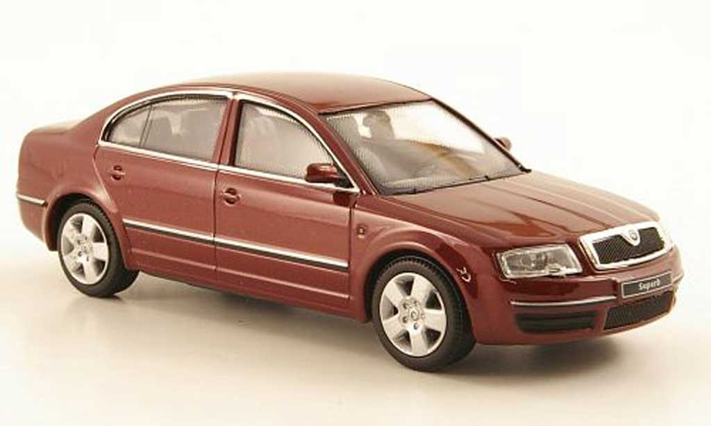 skoda superb rot abrex modellauto 1 43 kaufen verkauf modellauto online. Black Bedroom Furniture Sets. Home Design Ideas