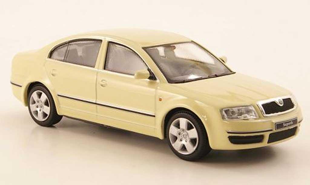 skoda superb miniature beige abrex 1 43 voiture. Black Bedroom Furniture Sets. Home Design Ideas