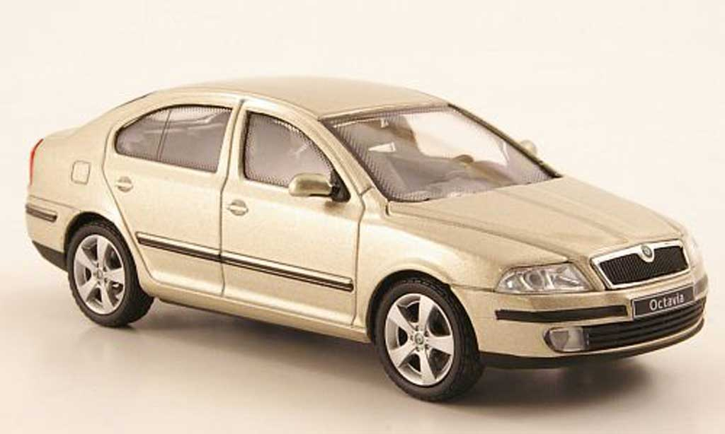 skoda octavia miniature limousine beige abrex 1 43 voiture. Black Bedroom Furniture Sets. Home Design Ideas