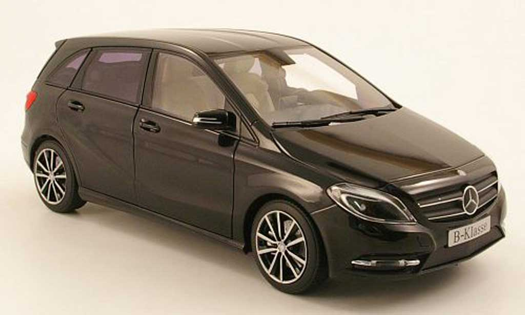 mercedes classe b miniature noire 2011 norev 1 18 voiture. Black Bedroom Furniture Sets. Home Design Ideas