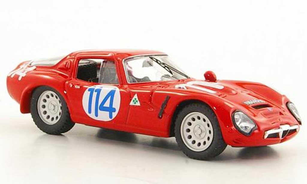 Alfa Romeo TZ2 1/43 Best No.114 ''Geki'' / Zeccoli Targa Florio 1966 miniature