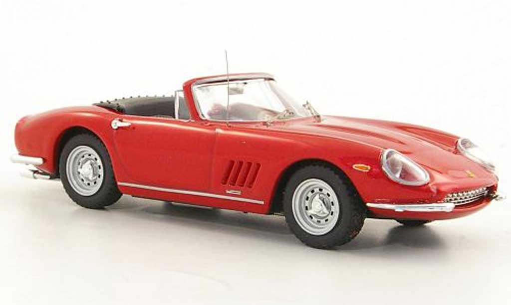 Ferrari 275 1/43 Best GTB/4 Spider rosso S.McQueen modellino in miniatura