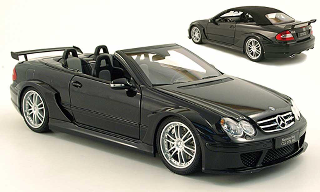 Mercedes Classe CLK DTM 1/18 Kyosho AMG cabriolet noire miniature