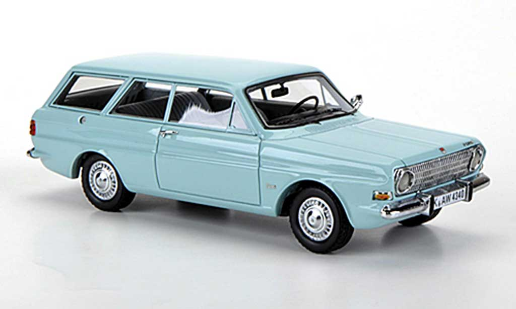 Ford Taunus 1966 1/43 Neo 12m (P6) Turnier turkis diecast model cars