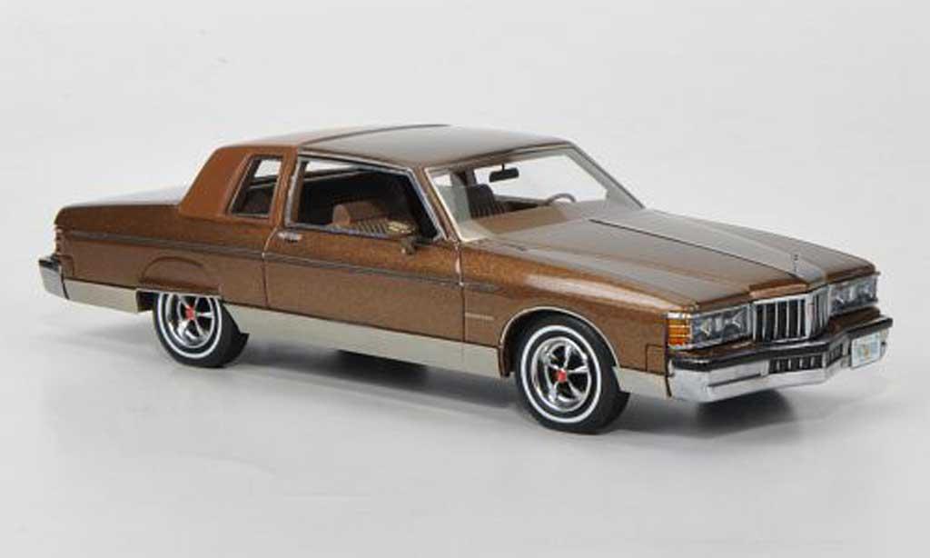 Pontiac Bonneville Brougham 2-Door Coupe met.brown/brown 1980 Neo. Pontiac Bonneville Brougham 2-Door Coupe met.brown/brown 1980 miniature 1/43