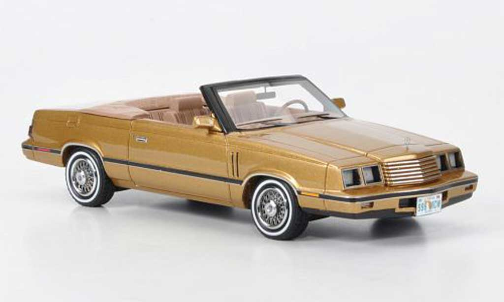 Dodge 600 1/43 American Excellence Convertible gold limited edition 1984 miniature