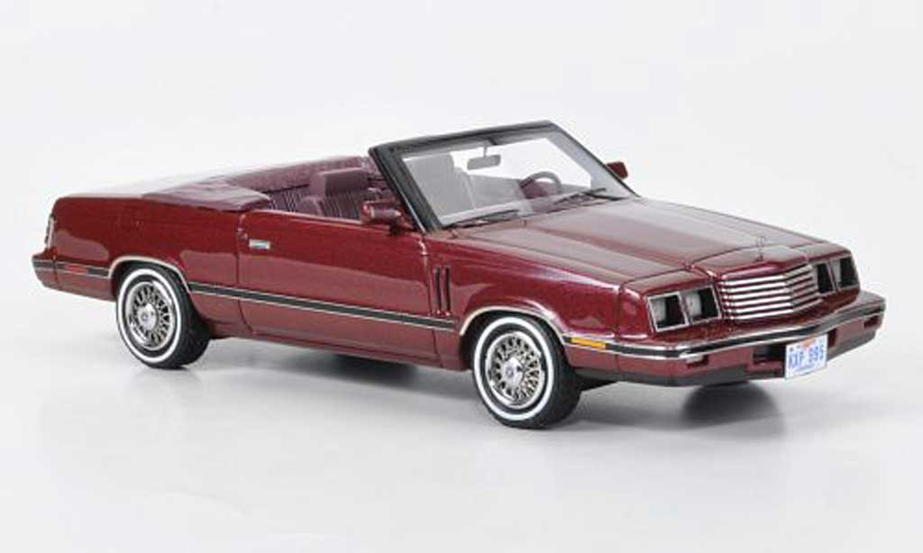 Dodge 600 1/43 Neo Convertible rouge 1984 miniature
