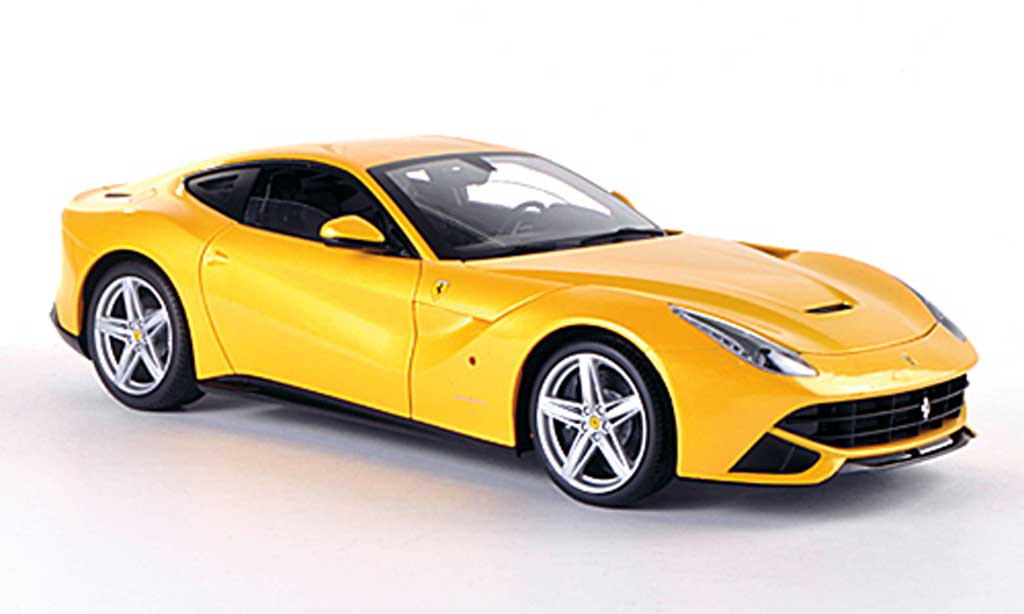 Ferrari F12 1/18 Hot Wheels Elite Berlinetta jaune (Elite) miniature