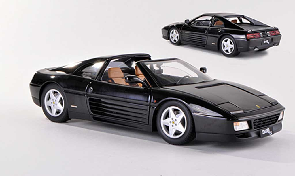 Ferrari 348 TS 1/18 Hot Wheels Elite noire (Elite)  miniature