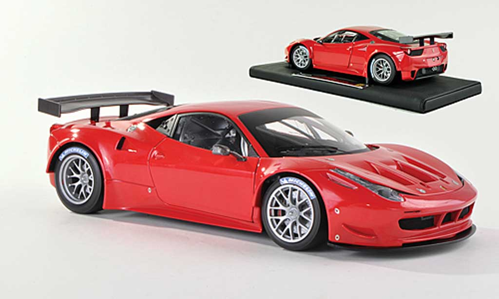Ferrari 458 Italia GT2 1/18 Hot Wheels Elite rouge Presentationsfahrzeug (Elite Special)  miniature