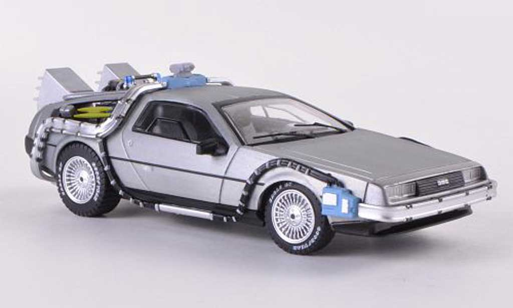 De Lorean futur I 1/43 Hot Wheels Elite DMC-12 Time Machine Back to the Future miniature