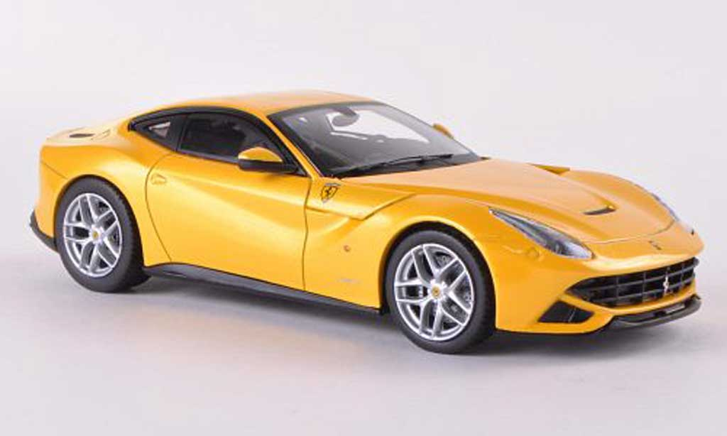 Ferrari F12 1/43 Hot Wheels Elite Berlinetta jaune (Elite)  miniature