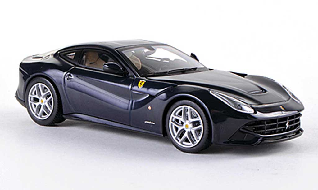 Ferrari F12 1/43 Hot Wheels Elite Berlinetta bleu (Elite) miniature