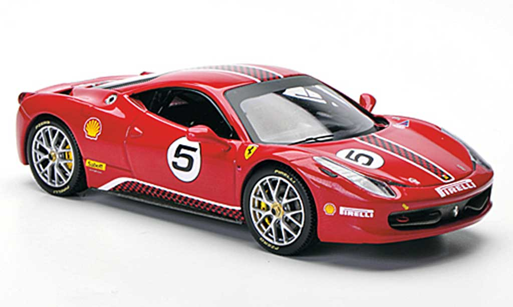 Ferrari 458 Challenge 1/43 Hot Wheels Elite No.5 rouge miniature
