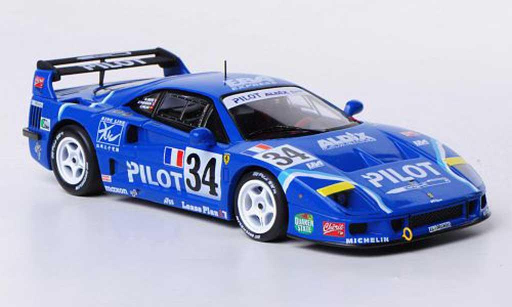 Ferrari F40 1/43 Hot Wheels Elite Competizione No.34 Pilot M.Ferte / O.Thevenin / C.Palau 24h Le Mans 1994 modellino in miniatura