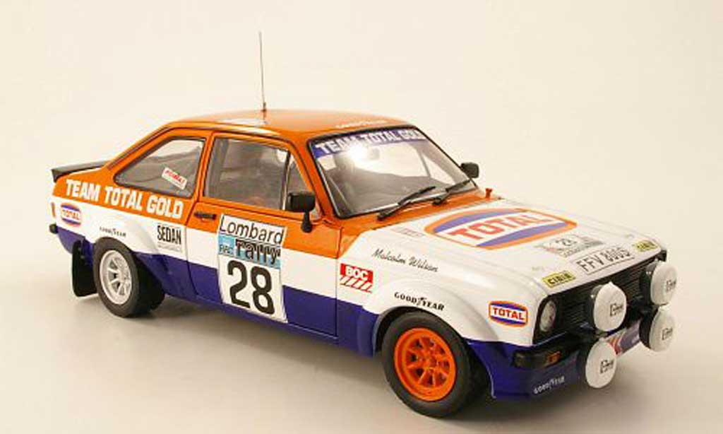 Ford Escort MK2 1/18 Sun Star 1800 No.28 Total RAC Rally 1979 M.Wilson / T.Harryman miniature