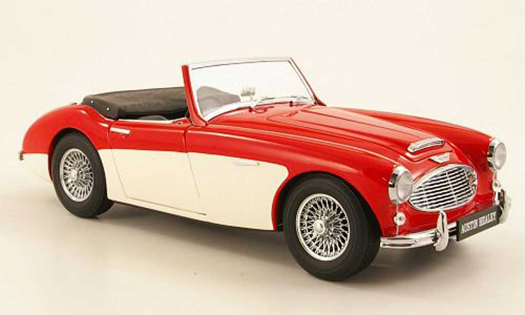 Austin Healey 3000 1/18 Kyosho MK1 red/white 1959 diecast model cars