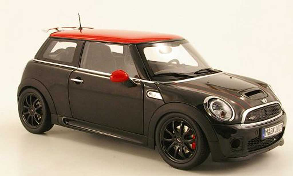 Mini Cooper JCW 1/18 Kyosho (R56) black/red diecast model cars