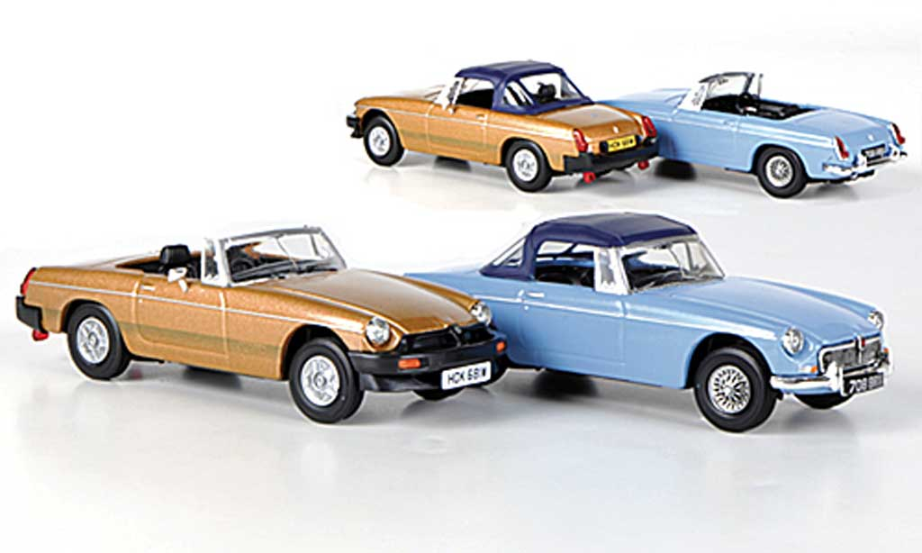 MG B 1/43 Vanguards 50th Anniversary Set (The first and the last) bleu und bronze miniature