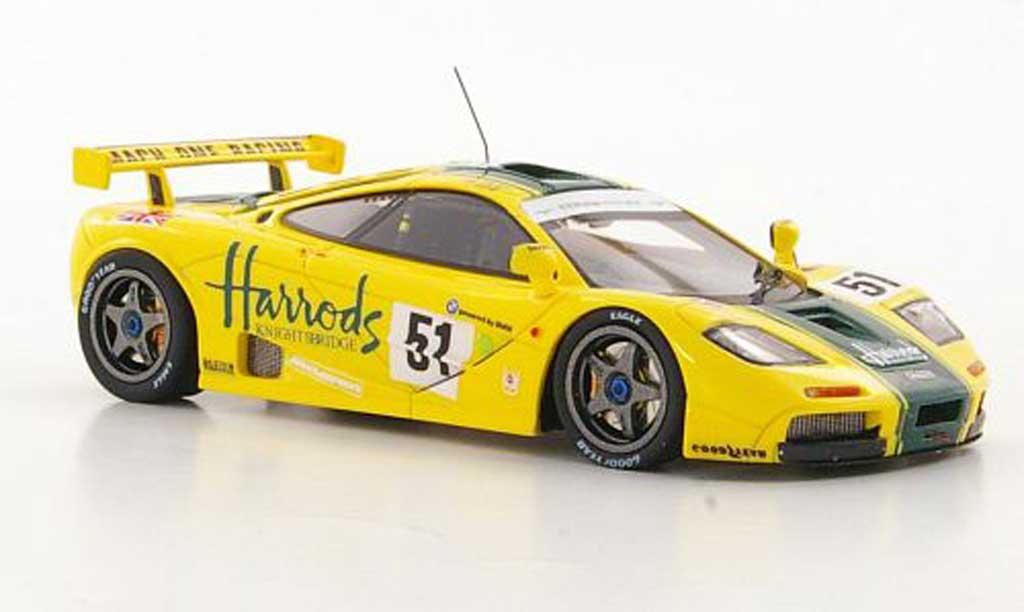 McLaren F1 1/43 TrueScale Miniatures GTR No.51 Harrods Mach One Racing A.Wallace / J.Bell / D.Bell 24h Le Mans 1995 miniature