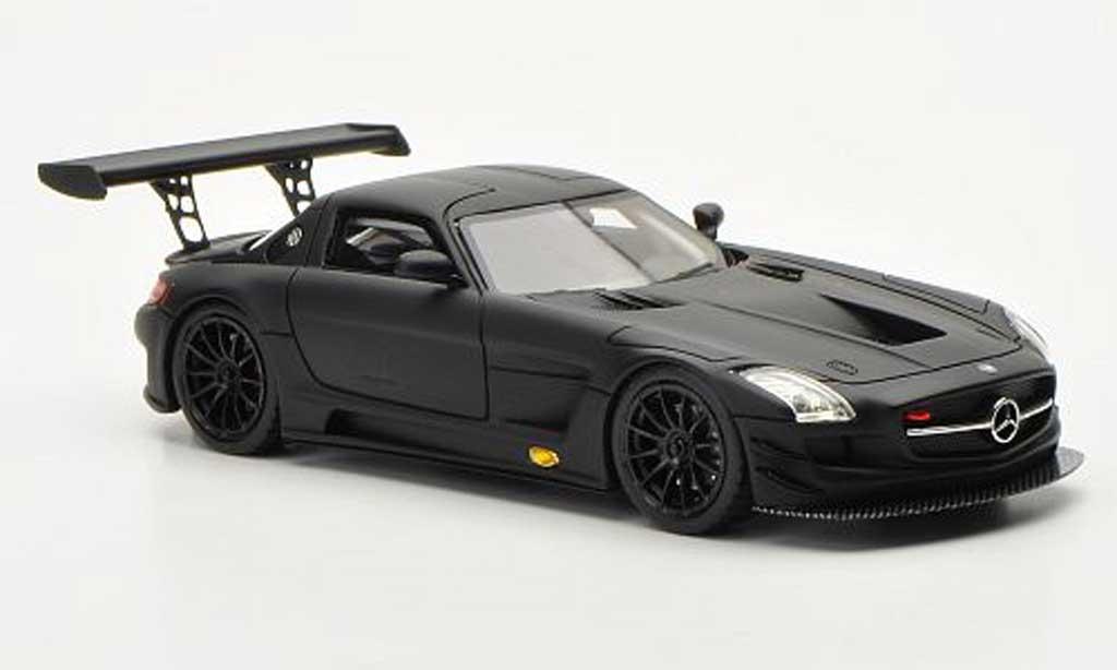 Mercedes SLS 1/43 Schuco AMG GT3 matt noire miniature