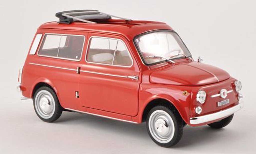 Fiat 500 1/18 Norev Giardiniera red 1960 diecast model cars