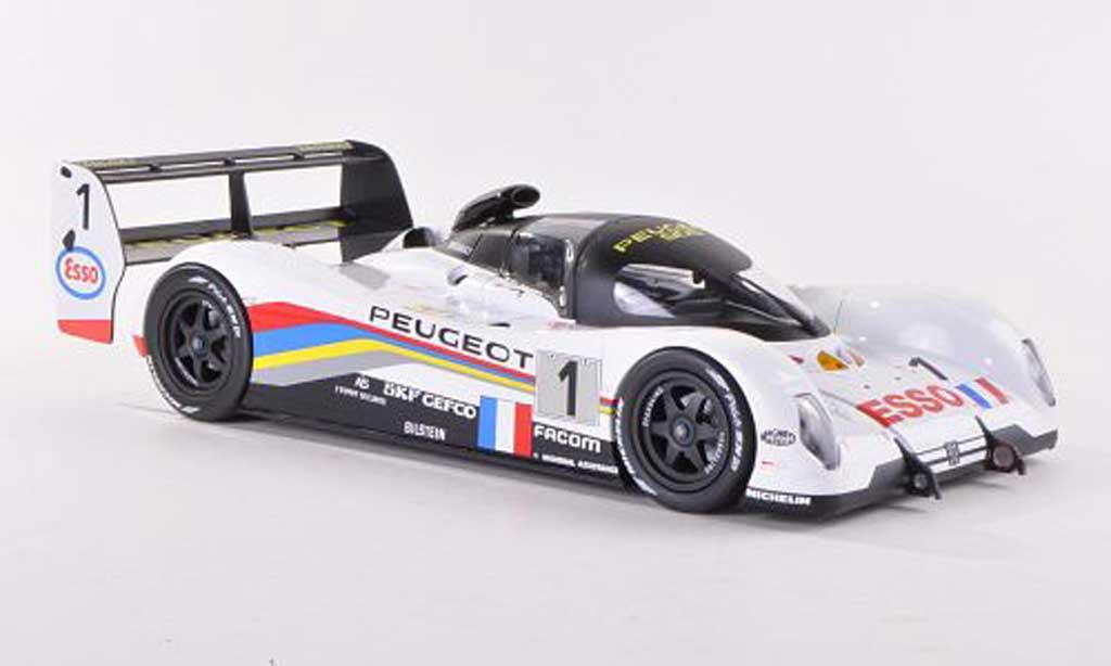 Peugeot 905 1993 1/18 Norev No.1 Esso 24h Le Mans Y.Dalmas/T.Boutsen/T.Fabi miniature