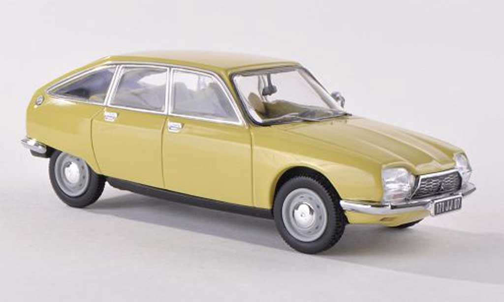 Citroen GS 1/43 Norev yellow 1971 diecast model cars