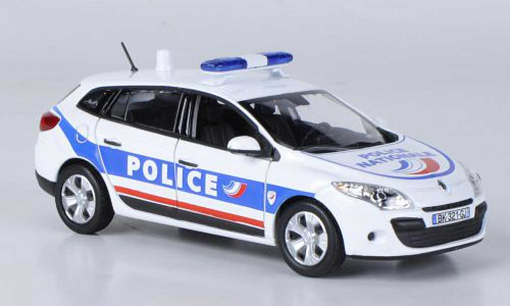 renault megane estate miniature police nationale 2009 norev 1 43 voiture. Black Bedroom Furniture Sets. Home Design Ideas