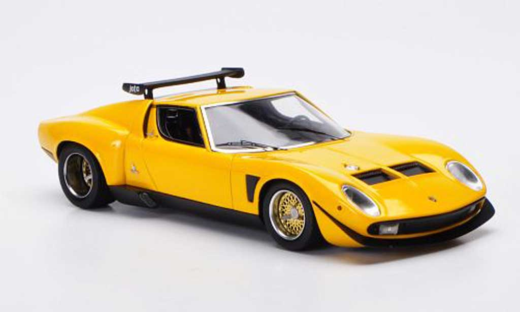 Lamborghini Miura Jota 1/43 FrontiArt SVR yellow 1972 diecast model cars