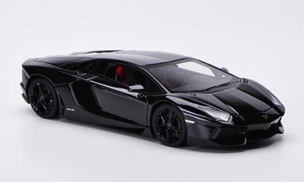 Lamborghini Aventador LP700-4 1/43 FrontiArt noire 2011 miniature