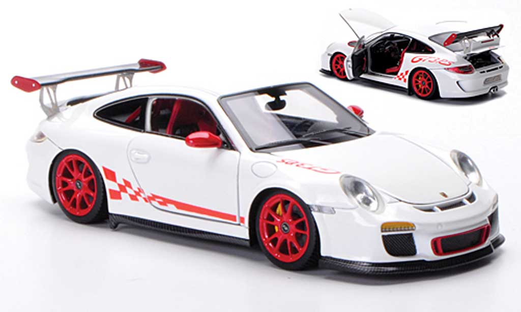 Porsche 997 GT3 RS 1/43 FrontiArt 2010 blanche/rouge miniature