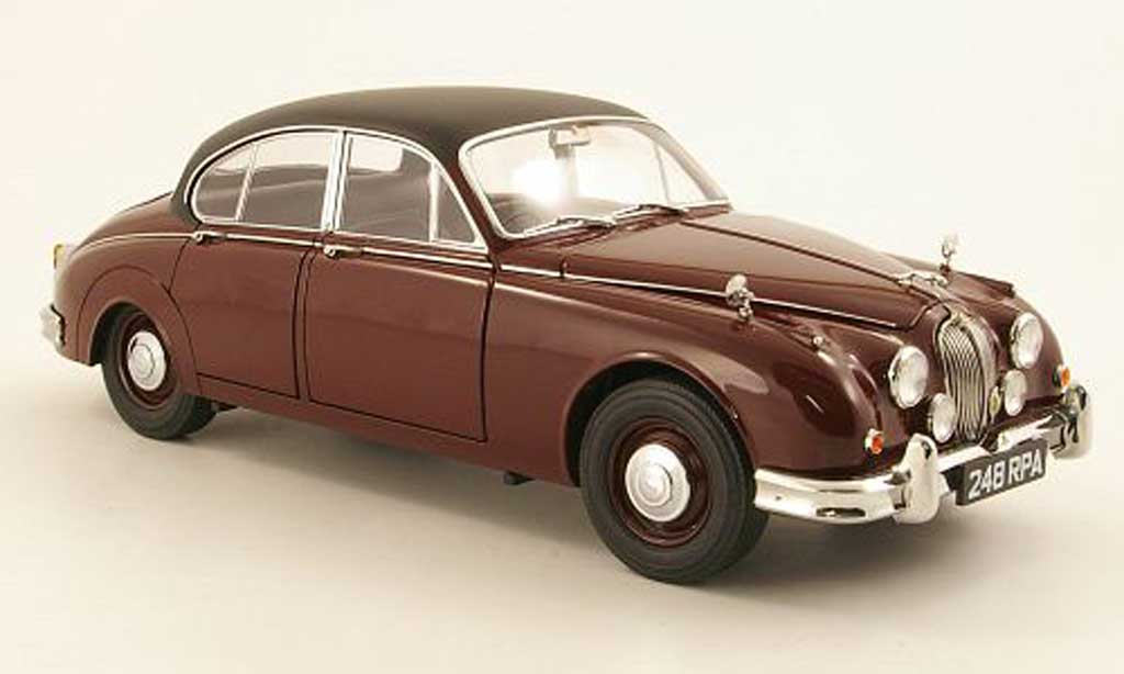 Jaguar MK 2 1/18 Model Icons Inspector Morse rouge/noire RHD miniature
