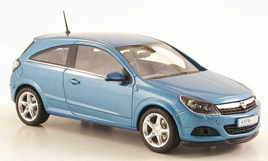 Opel Astra 1/43 Minichamps H GTC bleu 3-Turer miniature