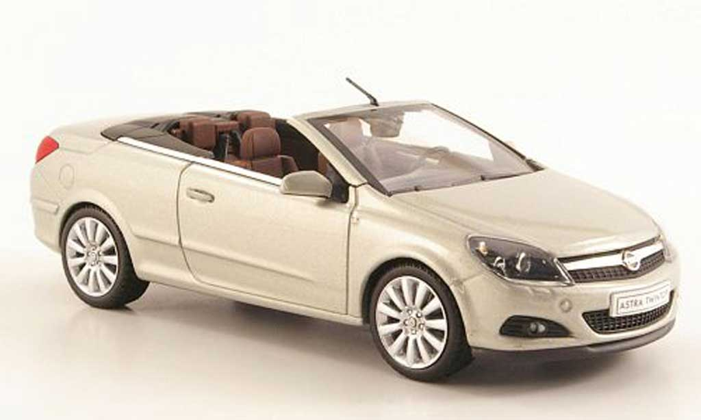 Opel Astra 1/43 Minichamps H Twin Top grisebeige miniature