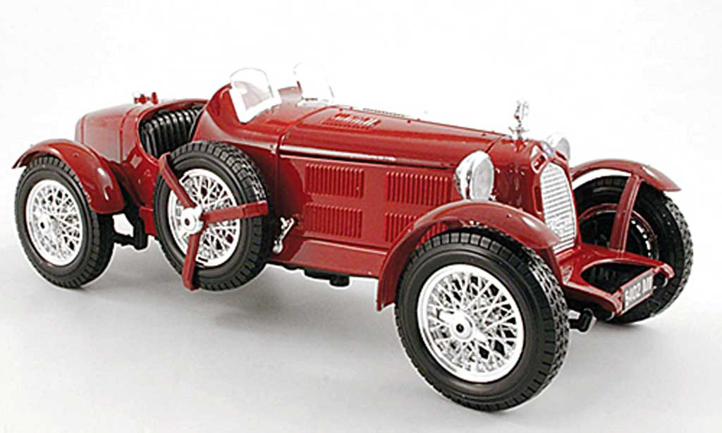 Alfa Romeo 8C 1/18 Burago 2300 Monza red diecast model cars