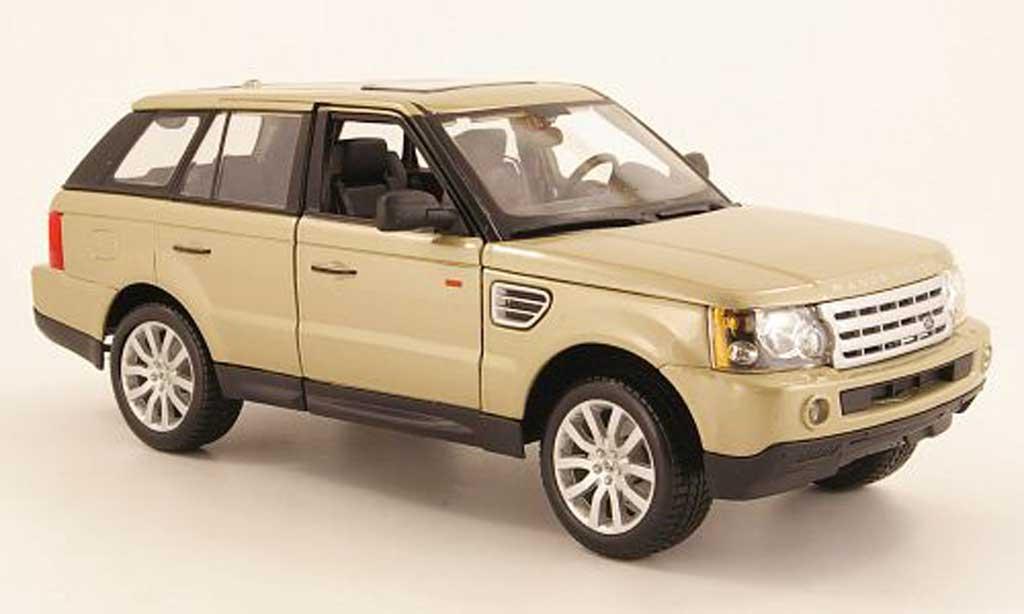 Range Rover Sport 1/18 Burago beige miniature