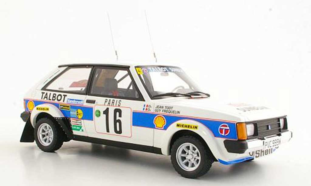 Talbot Sunbeam 1/18 Ottomobile Lotus No.16 G.Frequelin / J.Todt Rally Monte Carlo 1981 miniature