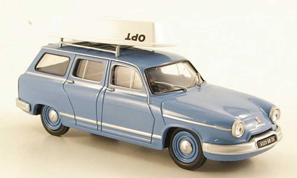 Panhard PL 17 1/43 Eligor Break bleu avec Boot miniature