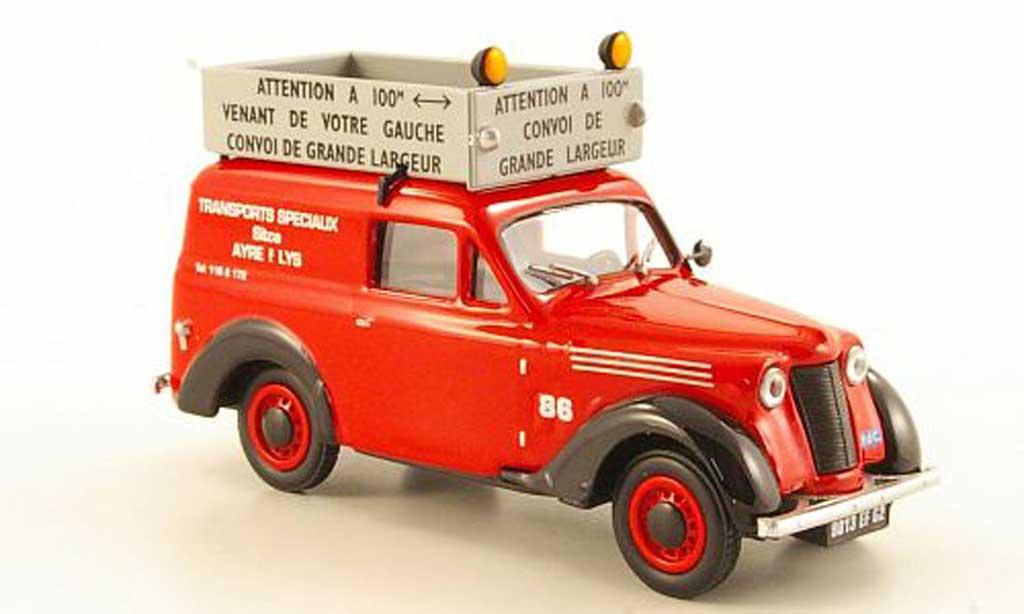 Renault Juvaquatre 1/43 Eligor Convoi Exceptionnel Transports Speciaux miniature