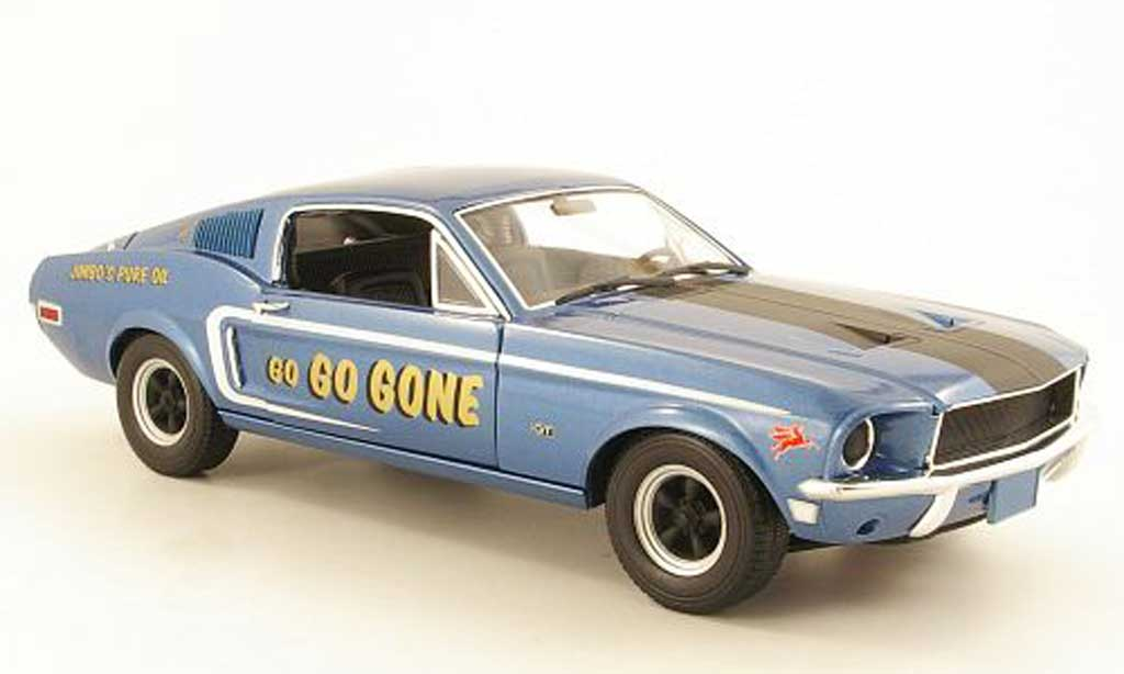 Ford Mustang 1968 1/18 Greenlight GT 2+2 Fastback D/S 584 - Jimbo's Pure Oil miniature