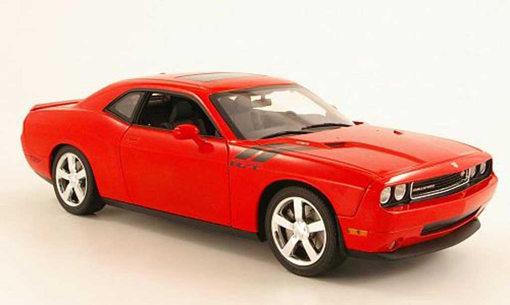 Dodge Challenger 2010 1/18 Highway 61 2010 R/T rouge miniature