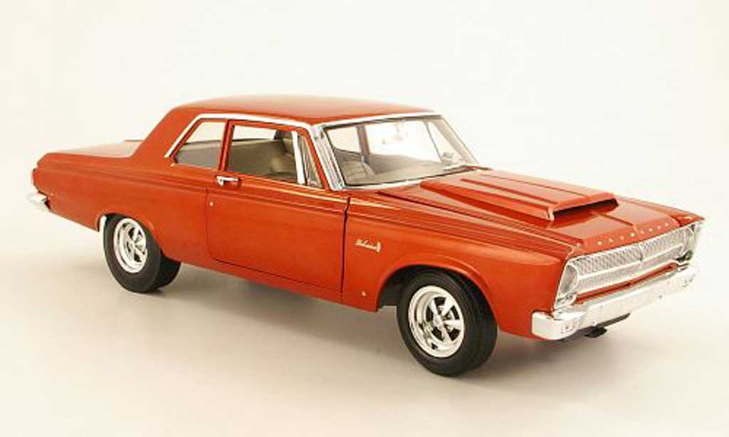 Plymouth Belvedere 1/18 Highway 61 A990 orange 1965 miniature
